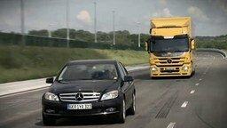 Безопасный грузовик от Мерседес смотреть видео прикол - 2:19