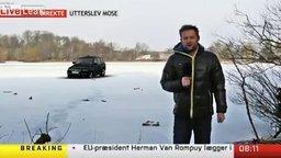 Здравствуйте, машина уходит под лёд смотреть видео прикол - 0:16