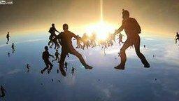 Смотреть Снежинка из парашютистов