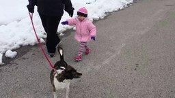 Смотреть Задорная девчонка и собака