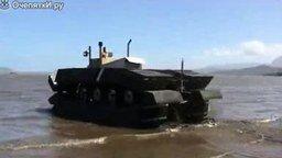 Такой танк пройдёт везде смотреть видео прикол - 1:00