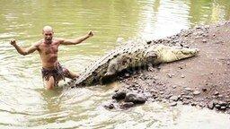Человек-крокодил смотреть видео прикол - 1:19