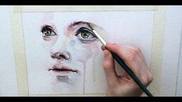 Смотреть Красивое рисование акварелью