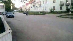 Горе-мотоциклисты смотреть видео прикол - 0:08