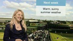 Сложно быть ведущей прогноза погоды
