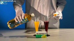 Лава-лампа из сока и аспирина смотреть видео - 2:13
