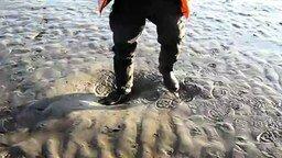 Гуляя по зыбучему песку смотреть видео - 0:23