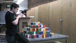 Смотреть Мозаика из кубиков Рубика