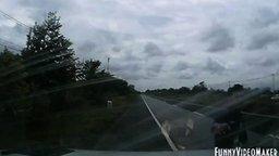 Быстрая реакция - залог успеха водителя смотреть видео прикол - 1:00