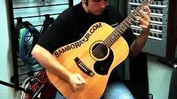Смотреть Красивое исполнение на акустической гитаре