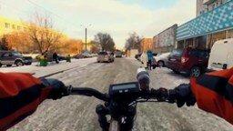 Смотреть Зимнее развлечение двух русских парней