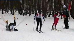 Самый мощный старт лыжника смотреть видео - 0:06