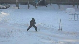 Зимний новосибирский самурай смотреть видео прикол - 1:41