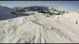 Смотреть Быстрый фрирайд на горных лыжах