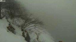 Смотреть Парашютист прыгнул в туман