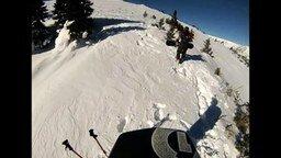 Лыжник попал в лавину смотреть видео прикол - 1:37