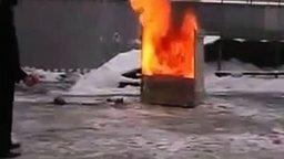 Тушение пожара гранатой смотреть видео прикол - 0:40