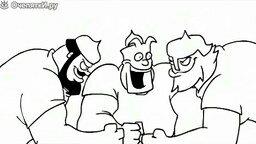 Смотреть Три богатыря против черепашек ниндзя