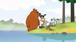 Лесной оркестр на рыбалке смотреть видео прикол - 1:00