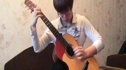 Smells Like Teen Spirit на акустической гитаре смотреть видео - 4:16