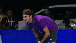 Теннисист заводит толпу смотреть видео прикол - 2:28