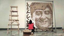 Смотреть Портрет Джеки Чана из палочек