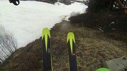 Однажды весной на горнолыжном склоне... смотреть видео прикол - 0:50