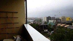 Сильный ураган на Сахалине смотреть видео - 0:54