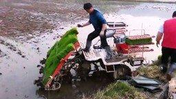 Машина для посадки риса смотреть видео - 1:08