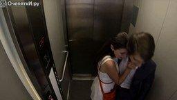 Смотреть Страшный розыгрыш с лифтом