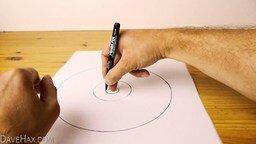 Рисуем идеальный круг без циркуля смотреть видео - 1:46