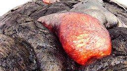 Смотреть Раскалённая лава вблизи