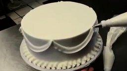 Украшение свадебного торта смотреть видео - 3:07