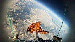 Смотреть Отправка отбивной в космос