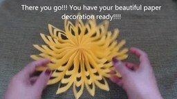 Смотреть Красивые новогодние цветы из бумаги