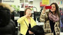 Смотреть Смуглянка-молдаванка в торговом центре