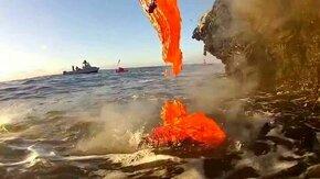 Смотреть Лава течёт в океан