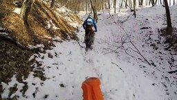 Мотопокатушки по зимней природе