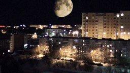 Две луны в Мурманске смотреть видео прикол - 0:25