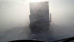 Смотреть Мощная метель на Ямале