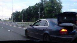 Смотреть Буксировка автомобиля при помощи шины