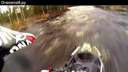 Вверх по течению реки на снегоходе смотреть видео прикол - 3:07
