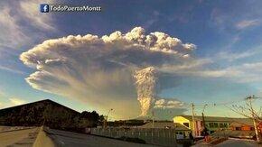 Смотреть Извержение вулкана в Чили