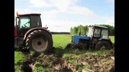 Беспомощные тракторы смотреть видео прикол - 2:14