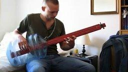 Смотреть Самодельная бас-гитара