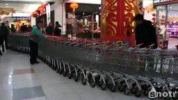 Смотреть Китайский поезд из тележек