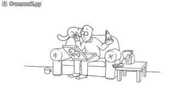 Кот Саймона и пицца смотреть видео прикол - 1:40