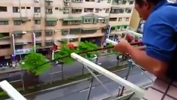 Рыбалка с балкона смотреть видео прикол - 0:29