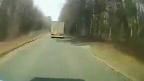 Грузовик сбил трактор смотреть видео прикол - 0:29