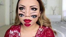 Самый страшный макияж смотреть видео - 3:59